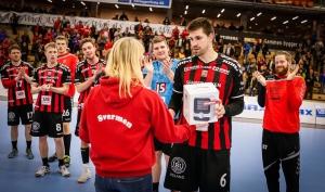 Vår nye høyre bakspiller Nikola Kedzo ble kåret til banens beste i kampen mot Bækkelaget:)